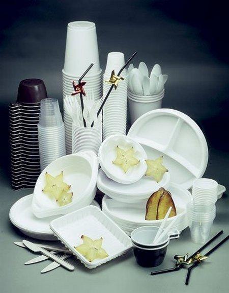 Красивая и практичная одноразовая посуда для пикника