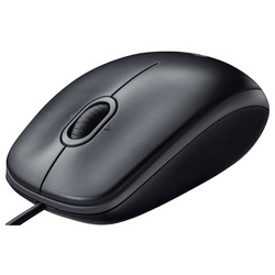 Logitech B110 Optical Mouse Black USB
