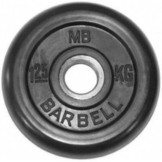MB Barbell (MB-PltB51-1,25), Black