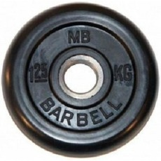 MB Barbell MB-PltB26-1,25, black