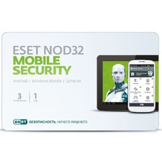 ESET ПО Eset NOD32 Mobile Security 3ПК/1 год (NOD32-ENM2-NS(CARD)-1-1)