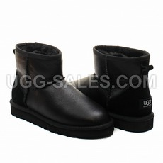 Ugg Man Classic Mini Metallic Black 45 (US 12)